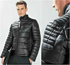 ZARA Man Authentic BNWT Black 100% Sheep Leather Quilted Biker ... & Image is loading ZARA-Man-Authentic-BNWT-Black-100-Sheep-Leather- Adamdwight.com
