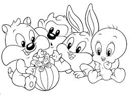 last minute baby looney tunes coloring pages to print toons