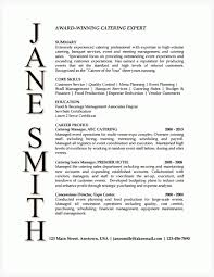 Catering Manager Resume