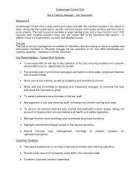 cover letter bar manager job description nb fire bar resumebar manager job description medium size bar manager cover letter