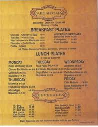 specials menu daily specials menu daily specials daily special meals menus