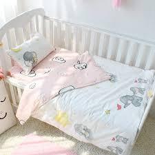 baby sheet sets 3pcs set pure cotton baby bedding set elephant pattern baby bed