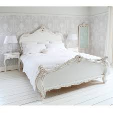 New Style Bedroom Furniture Provencal Sassy White French Bed Double The Floor Shabby Chic