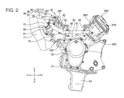 honda v4 superbike engine revealed in patent documents 031314 honda v4 sportbike engine radiator