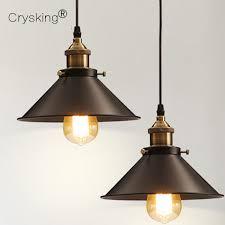 retro pendant lighting. Vintage Pendant Lights Retro Lamp Metal Lustres Loft Hanging Light Black Lampshades Russia Dining Lighting Luminarias