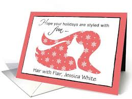 Customizable Christmas Card Customer Appreciation From Hair Dresser