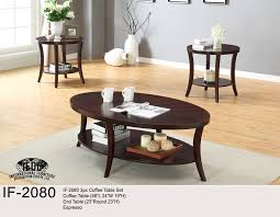 if 2071 3pc coffee table set espresso with dark brown marble