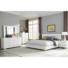 Shop August Glossy White 3-piece Panel Bedroom Set with Dresser - On ...