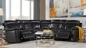 black leather living room furniture. hudson square black leather 7 pc reclining sectional living room furniture l