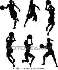 バスケットボール 女性 女性 シルエット クリップアート