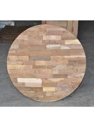 36 round handmade reclaimed wood table top