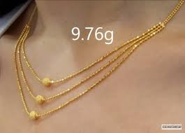 light weight gold necklace designs in