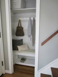 lovelishie diy coat closet makeover diy closet into mudroom