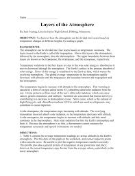 layer of the atmosphere worksheet. layer of the atmosphere worksheet
