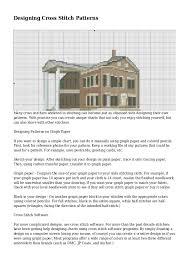 Designing Cross Stitch Patterns