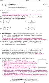 eplain wh ou made each choice solve each sstem e b a b a e p 15 practice form k