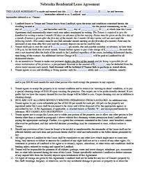 Free Nebraska Residential Lease Agreement | Pdf | Word (.doc)