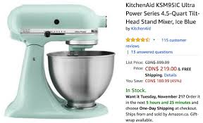 canada pre black friday deals save 45 on kitchenaid tilt head stand mixer now for 219 00