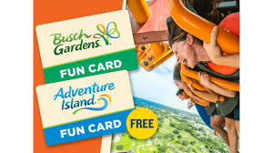 are you a florida resident get a free fun card to adventure island with the purchase of a fun card to busch gardens tampa bay