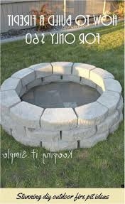 building a fire pit on concrete patio about diy outdoor fire pit ideas just