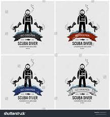 Scuba Diving Logo Design Scuba Diving Logo Design Vector Artwork Stock Vector