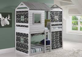 kids bunk bed. Amazon.com: House Double Bunk Beds With Camouflage Tents - Free Storage Pockets: Kitchen \u0026 Dining Kids Bed