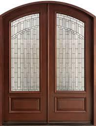 glass double door exterior. Door Design : Big Custom Wood Double Front Doors For Homes Modern Iron Furniture Deluxe Classic With Oval Glass Idea Wooden Home Exterior