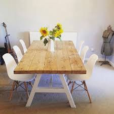 reclaimed chic a frame 6 8 seater solid wood metal dining table