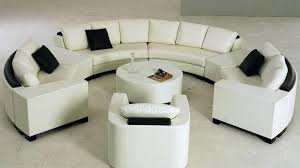 full size of round sofa settee white half with black pillows and table widely used sofas