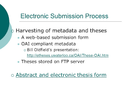 submitting theses to s portal a pilot project theses  7 electronic submission