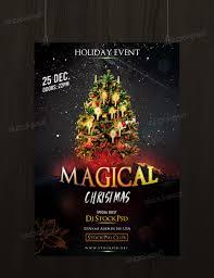 magical christmas psd flyer template net celebrate christmas this awesome flyer template