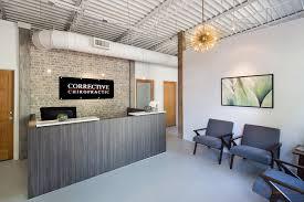 Office reception area Rustic Reception Area Design Decatur Chiropractic Office Design Reception Area Chiropractic Office Design Chiropractic Office Design