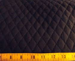 Double Sided Quilted Fabric | eBay & Solid Black QUILTED FABRIC Double Sided 1 Adamdwight.com