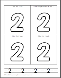 Try to color numbers to unexpected colors! Number Coloring Pages For Preschool Mamas Learning Corner