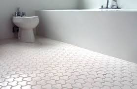 white floor tiles. Bathroom Floor Tiles Ideas With White Bathtub And Toilet Color