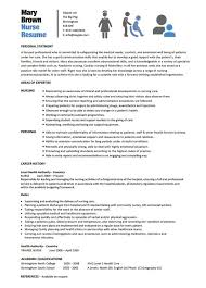 Nursing Resume Templates Free Enchanting 40 Nursing Resume Template Free Word PDF Samples