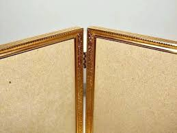 double frame gold tone folding fold day from sided 8x10 glass picture frames curved pa framing