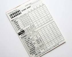 kismet game sheets card game score book etsy