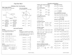 printable cheat sheets school math and trigonometry cheat sheets always helped me in school being a visual learner they