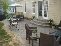simple paver patio. Awesome Paver Patio For Your Outdoor Ideas: Simple Floor Ideas With Arm
