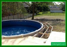 Pool And Deck Designs Above Ground Pool Decks Pictures Above Ground