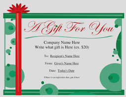 Gift Certificate Word Gallery Of Free Christmas Gift Certificate Templates For Word 4