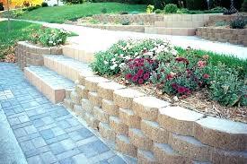 diy retaining wall blocks installing g wall blocks garden block with stairs build breeze how to a how to build a retaining wall with concrete blocks