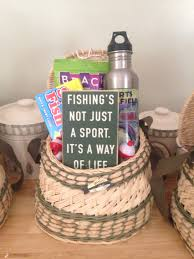 Diy Father's Day fishing gift basket.
