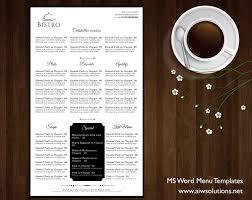 Microsoft Word Restaurant Menu Template Beauteous Design Templates Menu Templates Wedding Menu Food Menu Bar