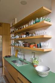 modern wall mounted shelving ideas for kitchen storage