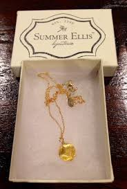 gold summer ellis necklace from papillion boutique in waco tx 58