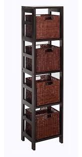 Leo 5pc Storage Shelf with Basket Set, Shelf with 4 small baskets - [92814