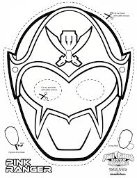 Power Ranger Mask Printable Coloring Pages