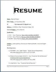 Sample Resume Format Famous Photoshots Example Simple For Freshers
